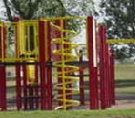 a playground area in the park